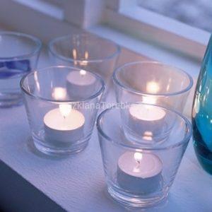 Świeczniki szklane